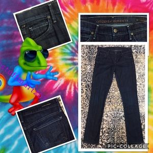 """CITIZENS OF HUMANITY NWOT JEANS SIZE 1 25""""wX 31""""l"""